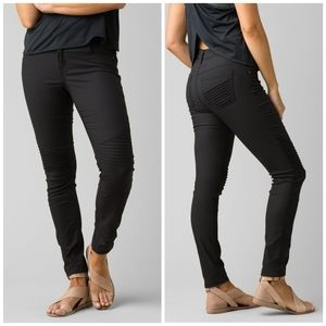 NWT Prana Mid-Rise Fitted Brenna Moto Style Pants